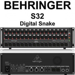 Conversor Digital 32 In/16 Out Digital Snake S32 - Behringer R$7
